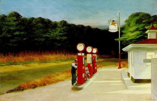 Gas, Edward Hopper (1882-1967)1940, oil on canvas, 66.7 x 102.2 cm, Museum of Modern Art, New York, Mrs Simon Guggenheim Fund