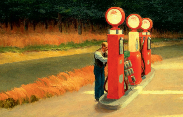 Gas, Edward Hopper (1882-1967)