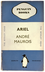 The first Penguin book. Ariel – A Shelley Romance by André Maurois (1935)