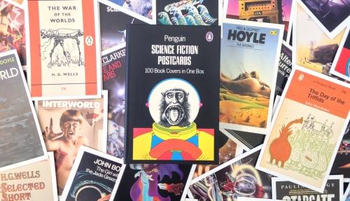 Sci Fi postcards tiling for blog header