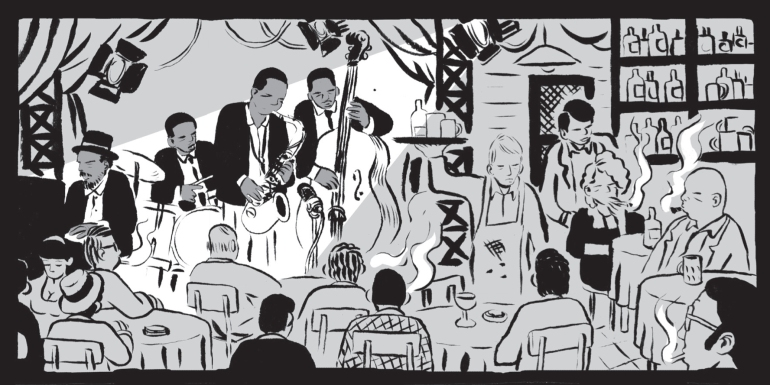 An illustration from Coltrane by Paolo Parisi